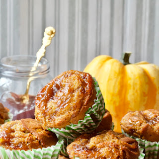 Pumpkin & Cinnamon Muffins with Plum Jam.