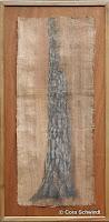 """Kiefer"", Ölpastell auf Papyrus, 34x82, 2005, verkauft"