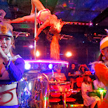 live music & pole daners at the Robot Restaurant in Kabukicho in Kabukicho, Tokyo, Japan