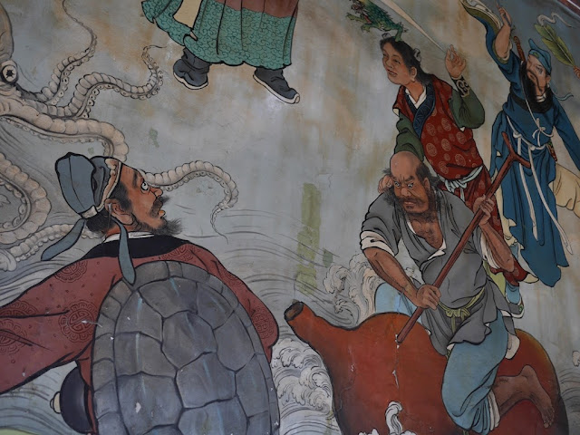 portion of a mural at the Dalongdong Baoan Temple in Taipei