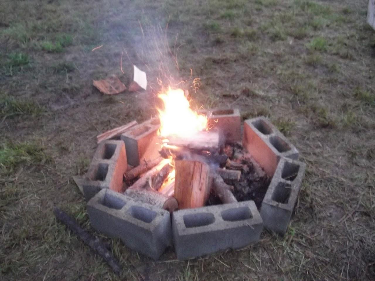 Scoutmaster fire.... One Match!
