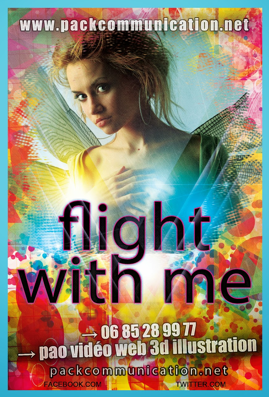 création flyers soirées thème Flight With Me