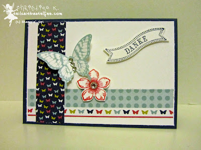 stampin up, inkspire_me 141, famose fähnchen, bitty banners, papillon potpourri, petite petals, thank you, danke