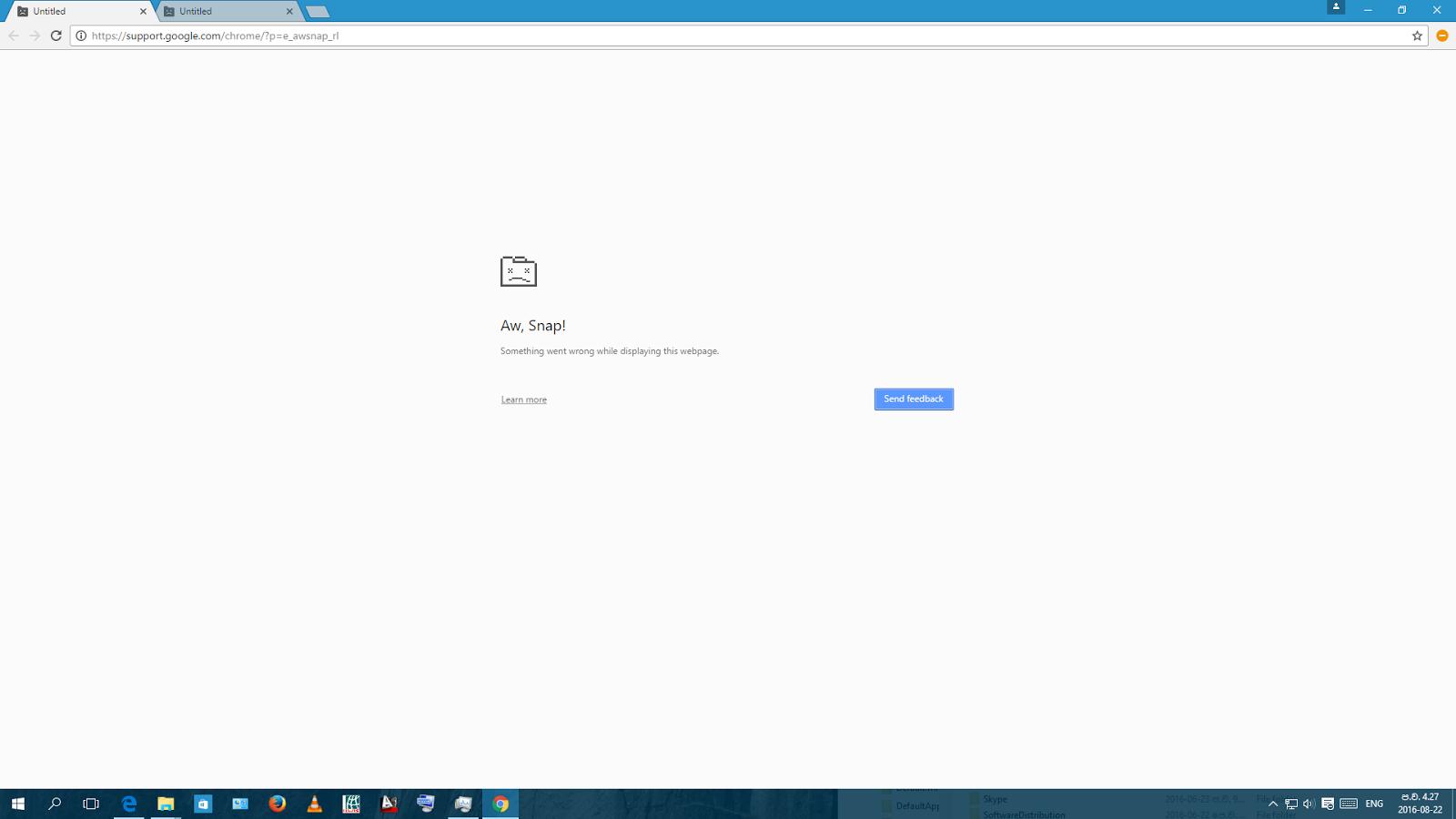 crash windows in windows 10 - Google Chrome Help