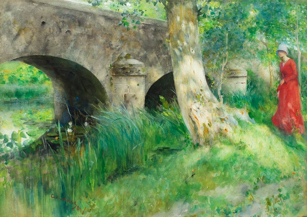 Carl Larsson - The Bridge in Grez