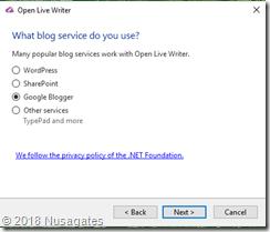 Konfigurasi Open Live Writer Untuk Blogger