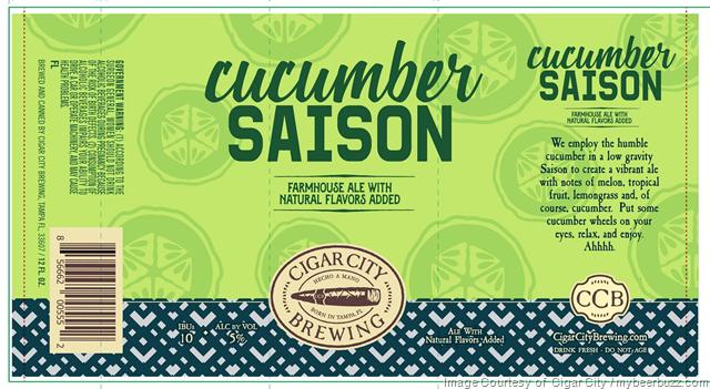 Cigar City Cucumber Saison Coming To 12oz Cans