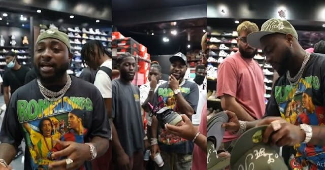 Money Talks: Davido Takes The Entire 30BG Crew On Sneakers Shopping Spree In Los Angeles (VIDEO)