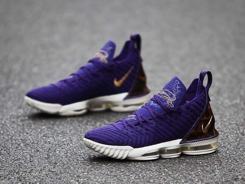 ... A Detailed Look at Nike LeBron 16 King Court Purple ... 4360e6b59