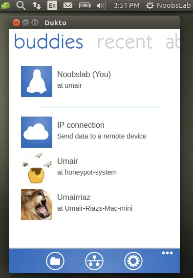 Share Files/Folders/Messages Using Cross-Platform 'Dukto