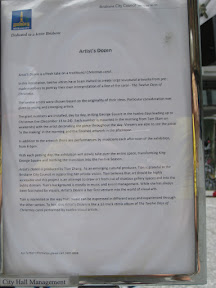 Placard about the Twelve Days of Christmas
