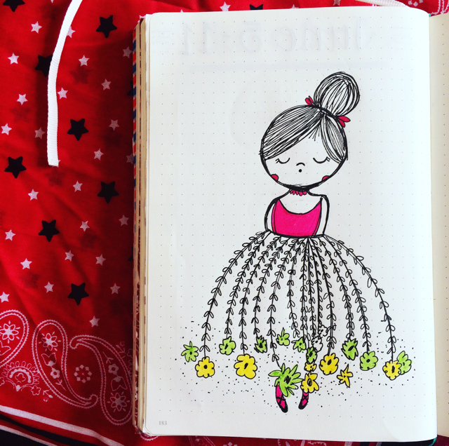 #100DaysOfDoodles | Day 67 | Flower Girl | The 100 Day Project