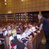 Kindergarten Learns about the Church from Fr. Ed
