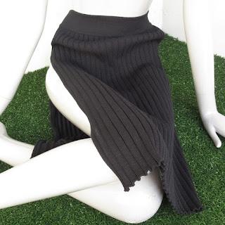 Givenchy Black Knit Skirt