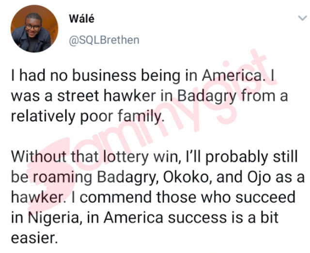 Success In America Is A Bit Easier Than Nigeria,