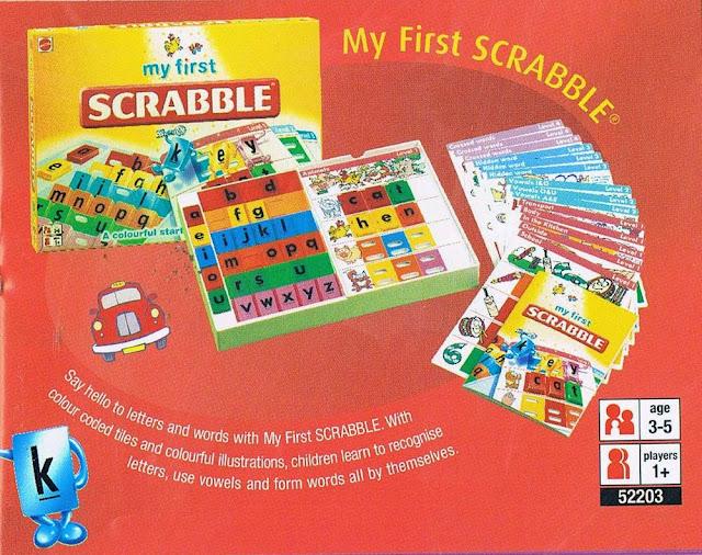 Trò chơi Xếp chữ Cơ bản My First Scrabble Mattel 52203