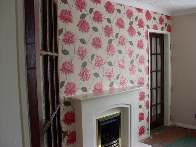 Feature wall in Ormskirk, Lancs