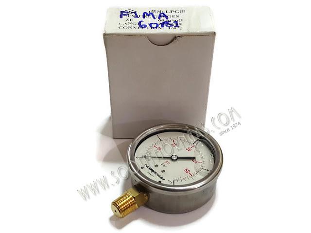 เกจ์น้ำมัน ( HIGH PRESSURE GAUGE )  NUOVA FIMA  0-4 kg./cm2
