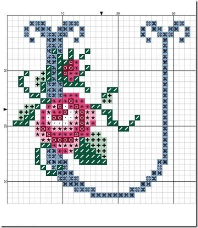 abc punto cruz letras con rosas  (20)