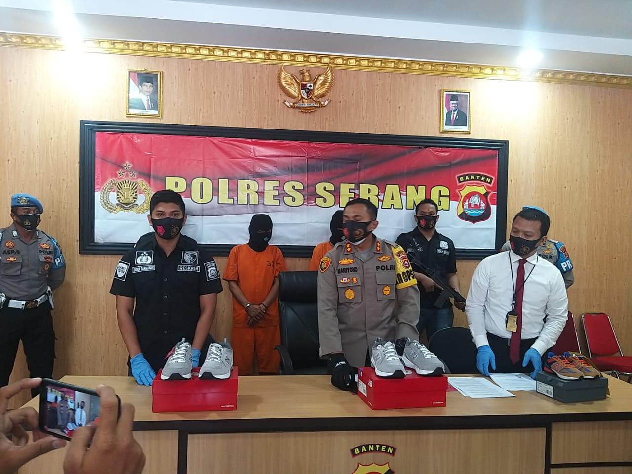 Polres Serang Berhasil Meringkus Pelaku Penggelapan Sepatu Milik PT PWI