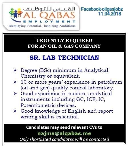 senior lab technician