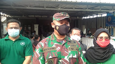 KODIM 0509 Kabupaten Bekasi Melalui Koramil 07 Gelar Vaksinasi 520 Karyawan PT Cikarang Nusantara