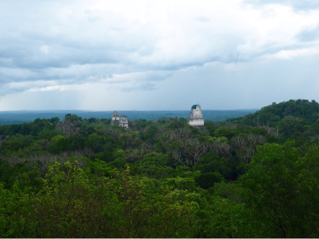 View of Tikal National Park from the top of Temple 4, Guatemala - Star Wars scene