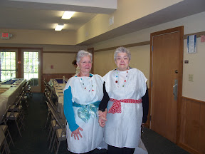 Two special ladies getting ready for the banquet