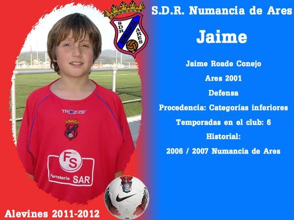 ADR Numancia de Ares. Alevíns 2011-2012. JAIME.