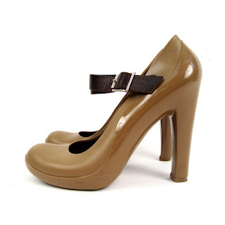 Marni Brown PVC Rain Pumps