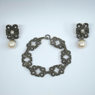 Sterling Silver Bracelet & Earrings Set