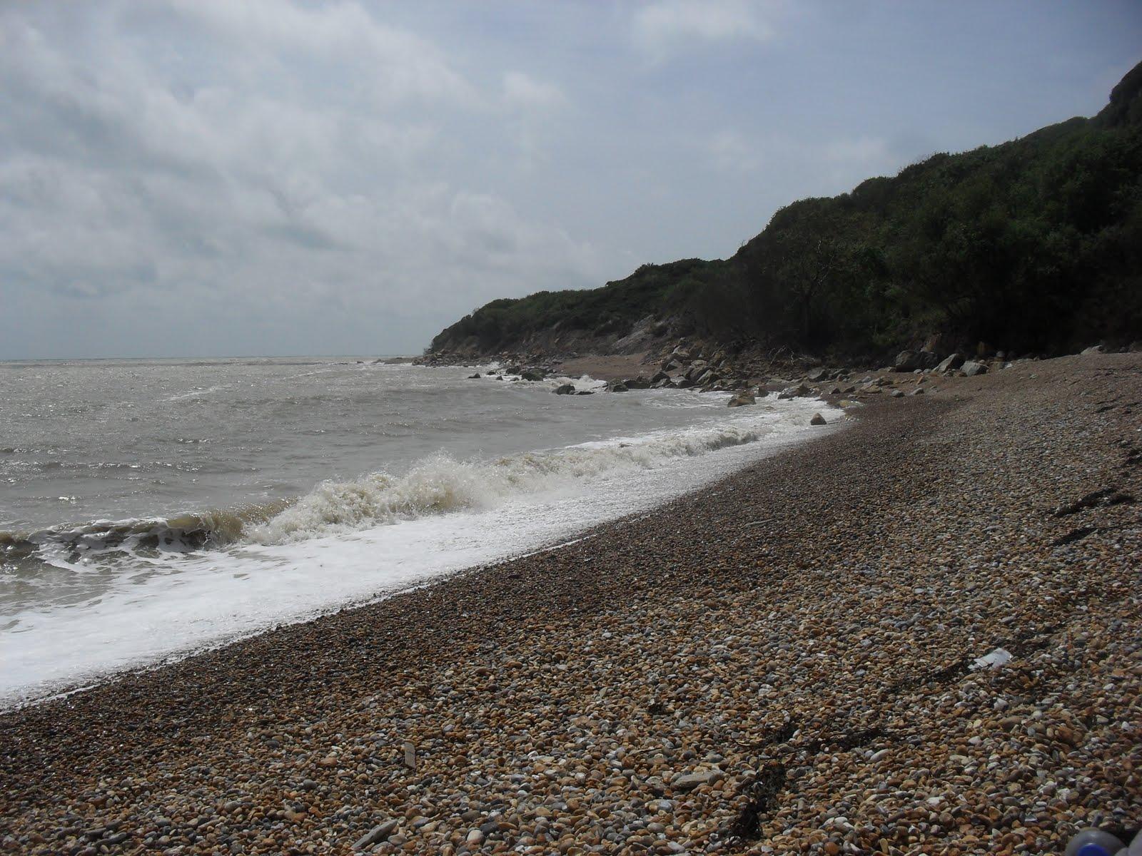 SDC11531 Fairlight Glen beach at high tide
