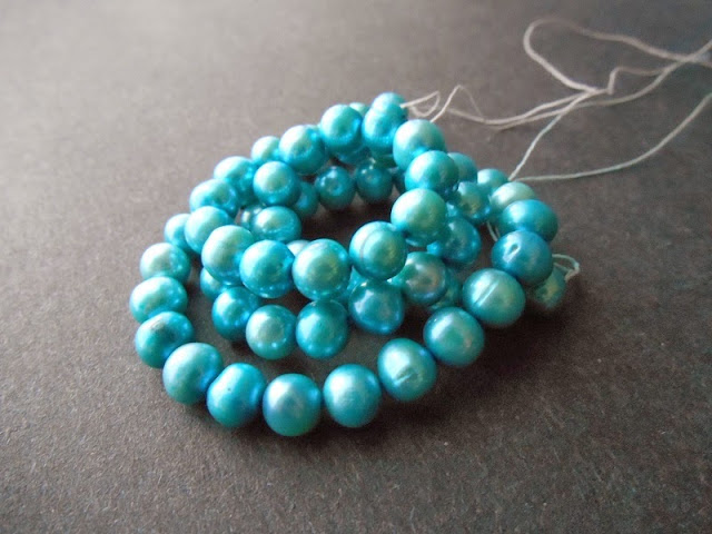 Turquoise Blue Freshwater Pearls