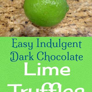 Easy Indulgent Dark Chocolate Lime Truffles.