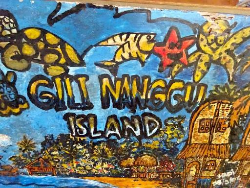 Lukisan dinding di Nanggu