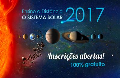 divulgação do curso a distância O Sistema Solar