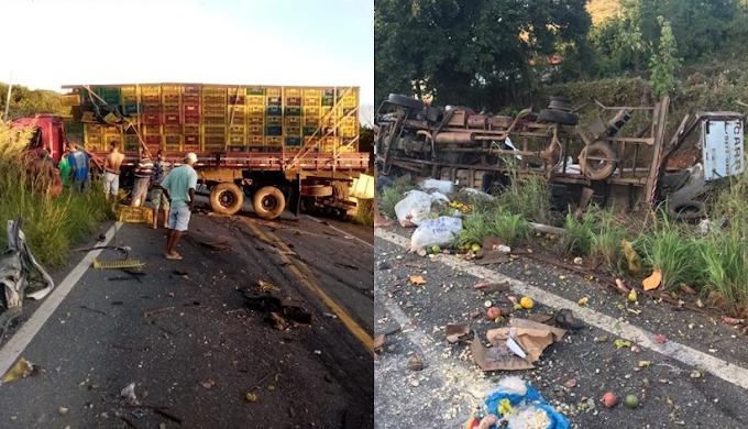 Motorista morre, após colisão entre dois caminhões na BR-430