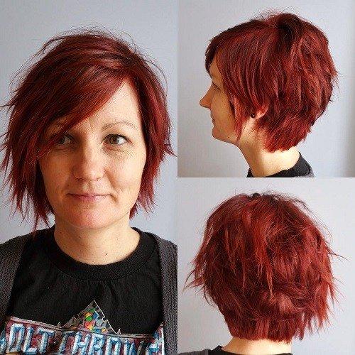 A Line Hair Color Ideas