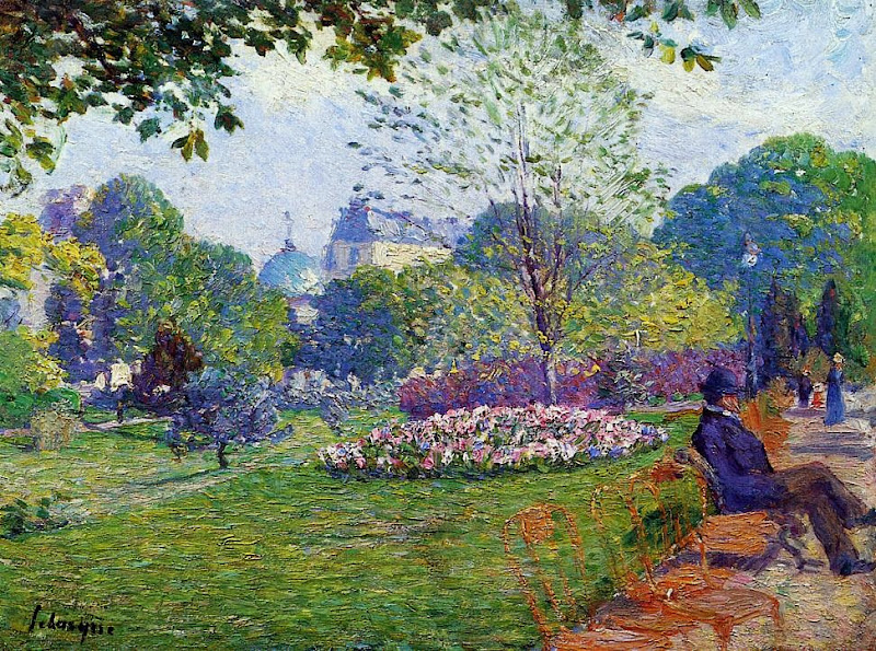 Albert Lebourg - The Parc Monceau