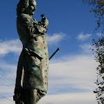 Statue de Jean-Jacques Rousseau : copie d'un bronze d'Albert Carrier-Belleuse (1998)