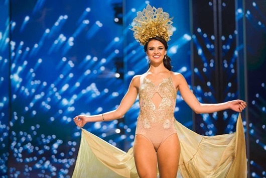 Lizelle Esterhuizen, Miss Namibia 2016 debuts her National Costume on stage at the Mall of Asia Arena on Thursday, January 26, 2017.  The contestants have been touring, filming, rehearsing and preparing to compete for the Miss Universe crown in the Philippines.  Tune in to the FOX telecast at 7:00 PM ET live/PT tape-delayed on Sunday, January 29, live from the Philippines to see who will become Miss Universe. HO/The Miss Universe Organization