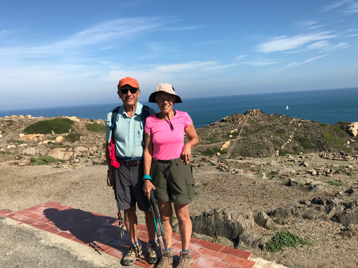 parents on top of Cap de Creus - Spain's easternmost bit of land.