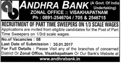 Andhra Bank Visakhapatnam Zonal Office 2020