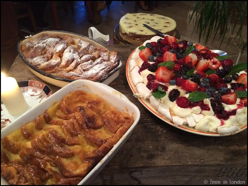 Bread and butter pudding and pavlova - Pudding Evening at the Secret Garden Kent