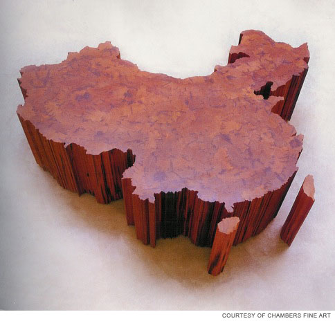 ai weiwei, china map