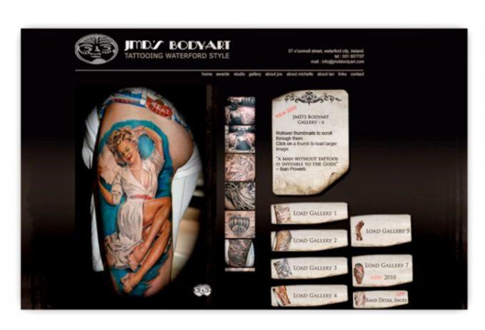 TextBXDesign Portfolio   JMD39s Bodyart   Graphic Design Web
