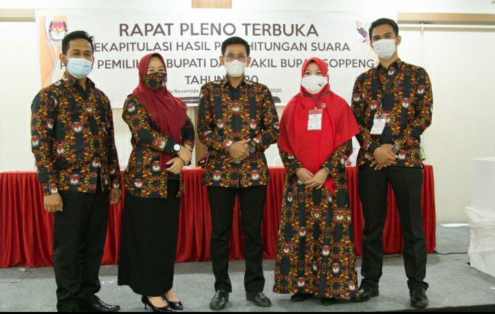 Hasil Rapat Pleno Rekapitulasi Pilkada Soppeng : AKAR-LHD Raih Suara 86,34 Persen Suara