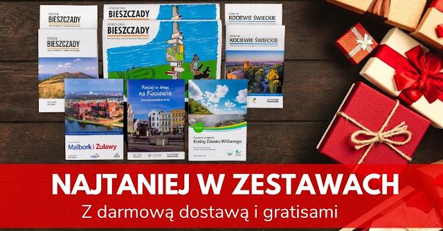 Zestaw książek i przewodników Ruszaj w Drogę