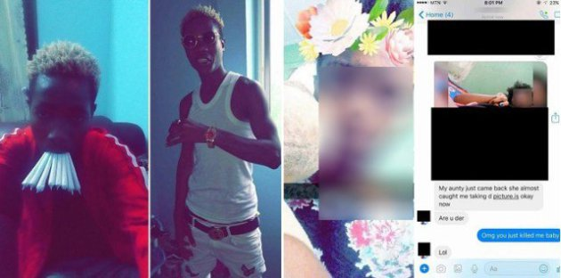 Yahoo Boy Leaks the nu-de Of A 19-Year-Old Nigerian Girl Who Has Been Begging To Be His Girlfriend (Photos)
