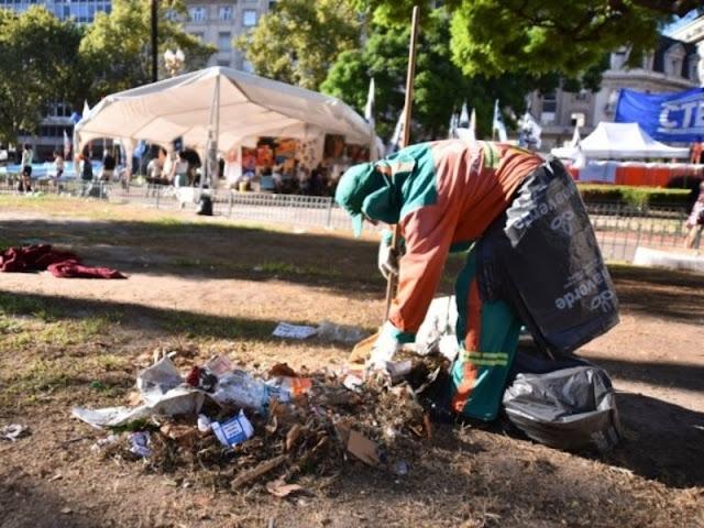 Levantaron el campamento por Milagro Sala en Plaza de Mayo